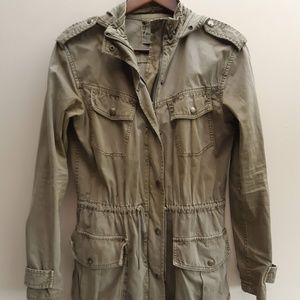 Aritzia Talula Trooper Jacket Cotton Zipper XXS XS